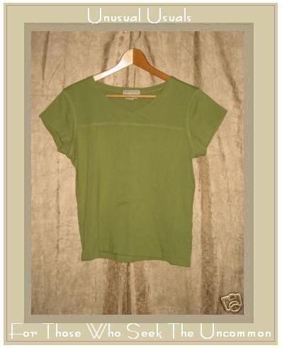 ROYAL ROBBIN Soft Green Cotton Tee Shirt Top Medium M