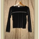FIT IGU ESO Softest Velour Knit Pullover shirt top Medium M