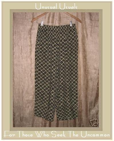 PUTUMAYO Soft Rayon Geometric Floral Pants Small S