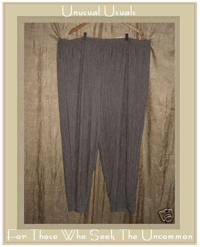 SILVER THREADS LTD. Soft Gray Crinkled Pants 4X