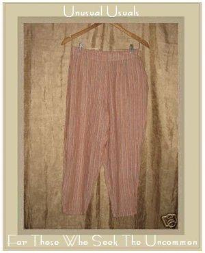 FLAX Striped LINEN Pants Jeanne Engelhart Small S