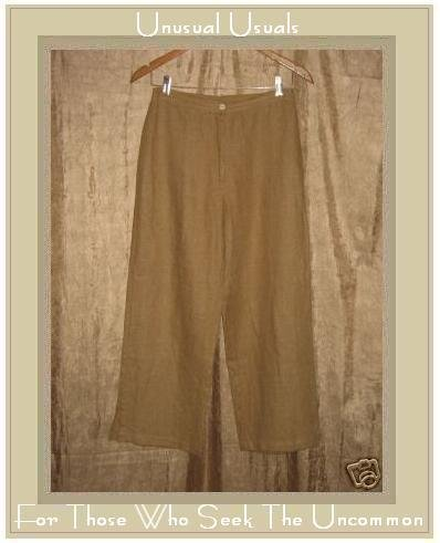 Kindred Spirit Earthy Tan LINEN Pants Small S