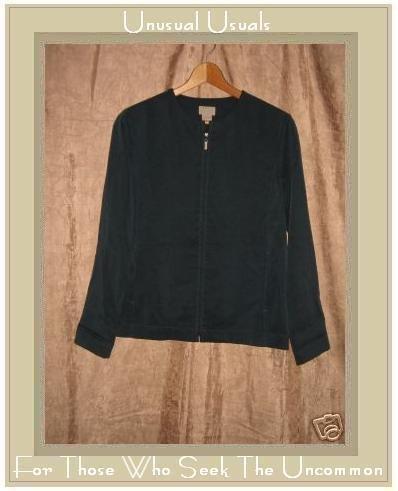 SIGRID OLSEN SPORT Jewel Blue Tencel Shapely Zipper Jacket X-Small XS