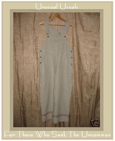 J. JILL Ribbon Trimmed Hemp Overalls Pants SP PS PETITE