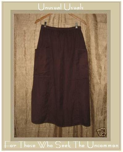Angelheart Designs LINEN Skirt by Jeanne Engelhart Large L