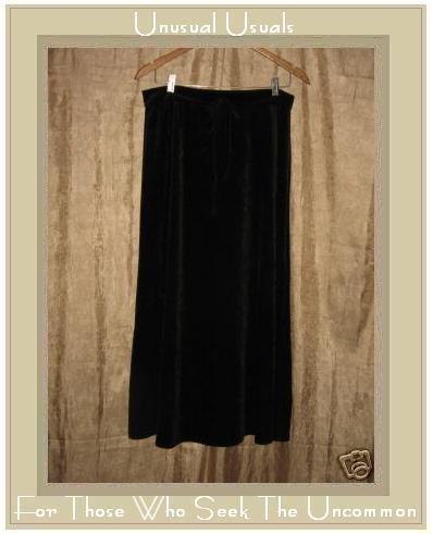 JMK Long & Full Chocolate Brown Velour Skirt Medium M