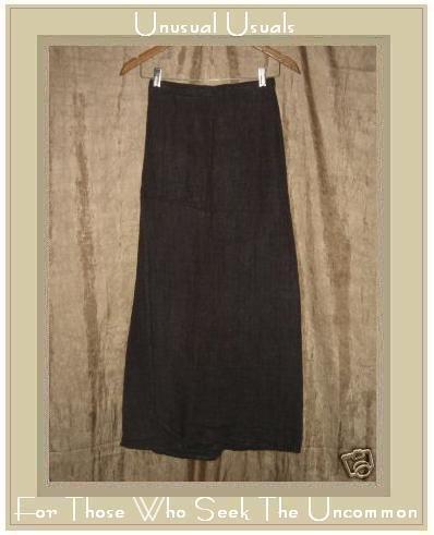 Flax by Jeanne Engelhart Earthy Bark Cloth Wrap Skirt Small S
