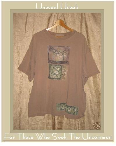 BLUE FISH Soft Brown Knit Tee Shirt Pullover Top 1995 OS