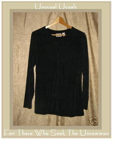 CHICO'S DESIGN Snappy Traverler Knit Shirt Tunic Top Size 1 Small S