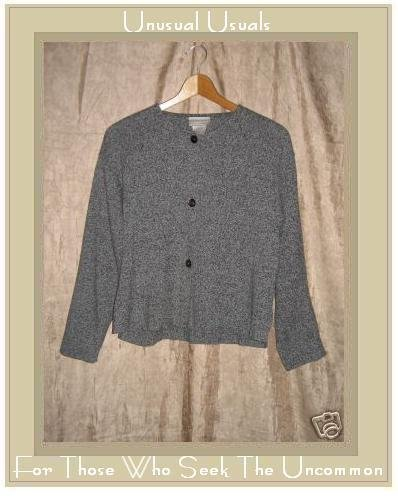 Coldwater Creek Gray Cotton Button Cardigan Shirt Top Small S