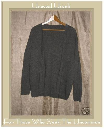 Marchetta Taupe Gray Open Cardigan Shirt Top Large L