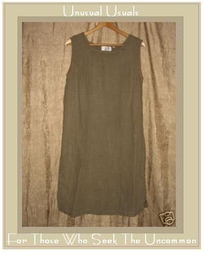 J. Jill Mushroom Gray LINEN Pullover Sheath Dress Medium M