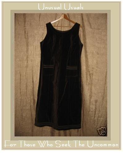 LAURA ASHLEY Shapely Brown Velvet Dress UK 18 EUR 44 US 14 Large L