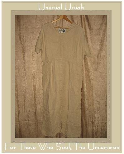 ANGELHEART DESIGNS Daily Dress by Jeanne Engelhart Flax  MEDIUM M
