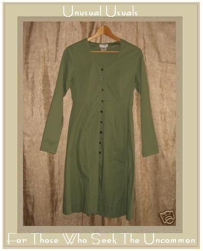 Neesh by D.A.R. Long Shapely Sage Tunic Dress Jacket Medium Large M L