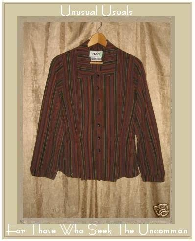 FLAX Shapely Button Shirt Top Jeanne Engelhart Petite P