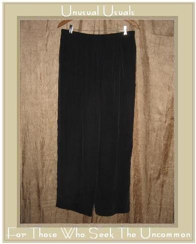 DANA B. And Karen Loose Black Silk Drawstring Pants Size 16