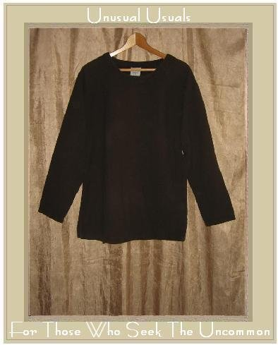 COLOR ME COTTON CMC Rich Brown Textured Woven Pullover Shirt Tunic Top Medium M
