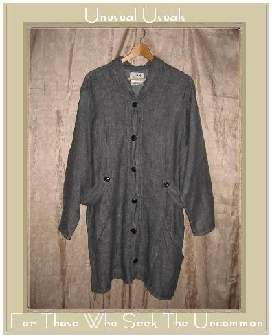 Jeanne Engelhart FLAX linen button Jacket Coat Large L