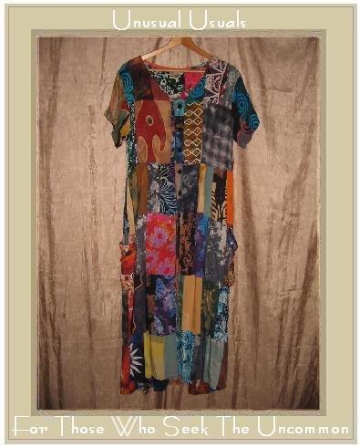 Kosi Bali Collection Long Patchwork Batik Dress One Size