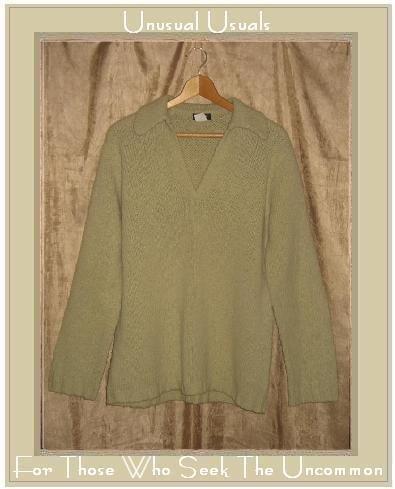 J. Crew Soft Green Wool Pullover Tunic Sweater Medium M