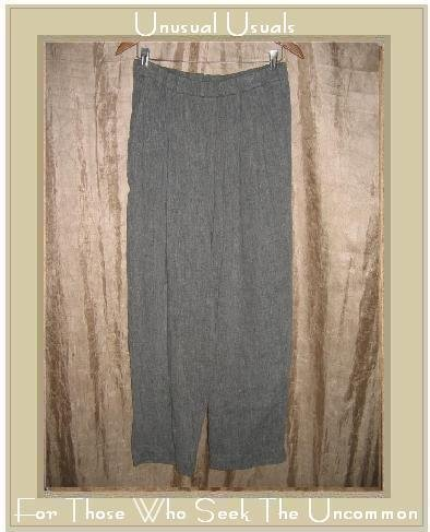 EILEEN FISHER Textured Gray Slacks Pants Large L