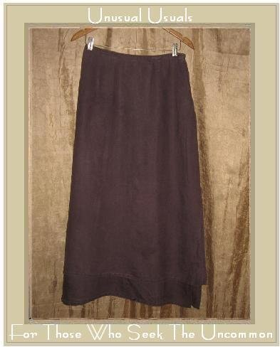 J. Jill Long Flirty Purple LINEN Layered SKIRT Medium M