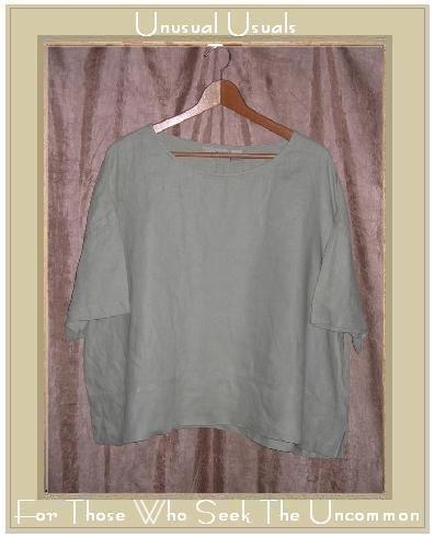J. Jill Light Green LINEN Pullover Tunic Top X-Large XL