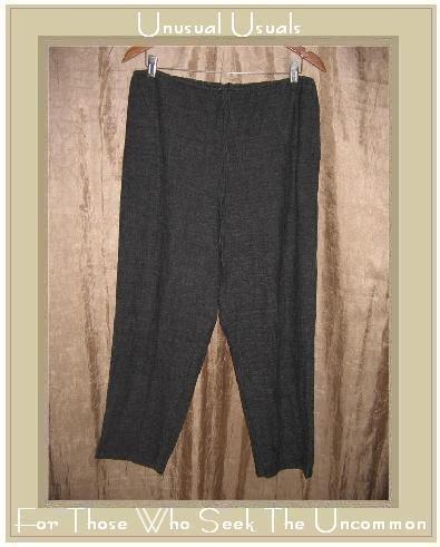 Chico's Design Gray Rayon Linen Drawstring Pants Size 2 Medium M