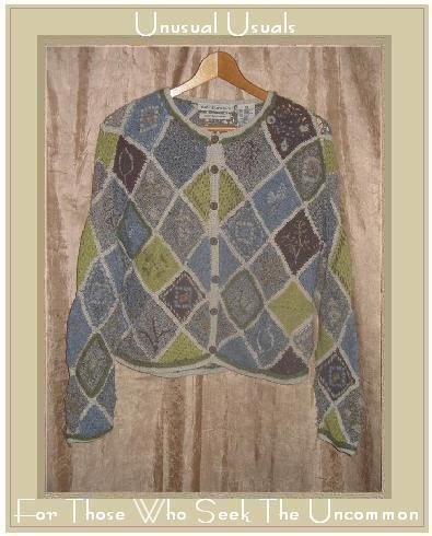 DAVID BROOKS Hand Knit Silk Wool Cardigan Sweater Small S