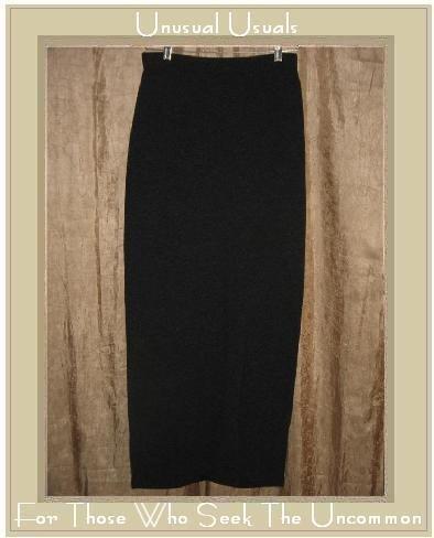 LILITH of France Long Gray Wool Gathered Hem Skirt Large L