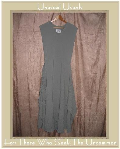 FLAX by Jeanne Engelhart MINT CHECK PINAFORWARD Jump Dress Medium M