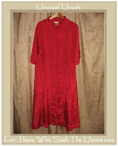KRISTA LARSON Long Red Button Dress Jacket One Size