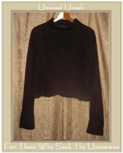 KRAFTWORK Soft Furry Brown Stretch Knit Sweater Medium Large M L