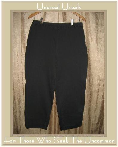 J. JILL Black Cotton Pants Slacks Size 10