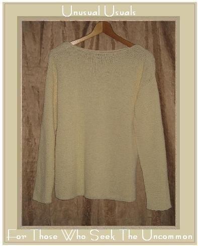 EILEEN FISHER Textured Knit Cream Tunic Sweater Top Medium M