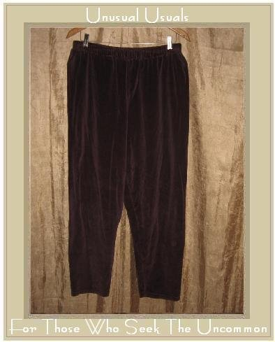 Angelheart Designs by Jeanne Engelhart Flax Plum VELOUR Leggings Pants Large L