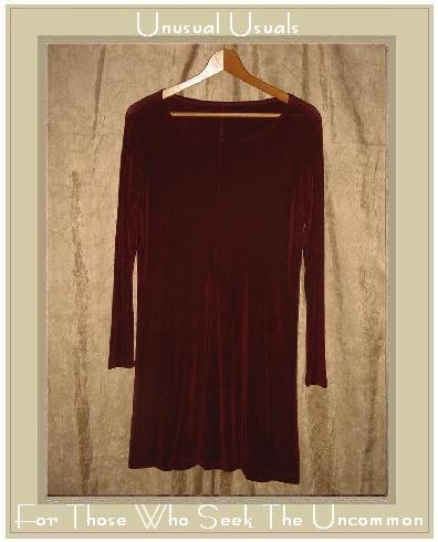 FLAX by Jeanne Engelhart Short Shapely Slinky Berry Knit Dress Small S
