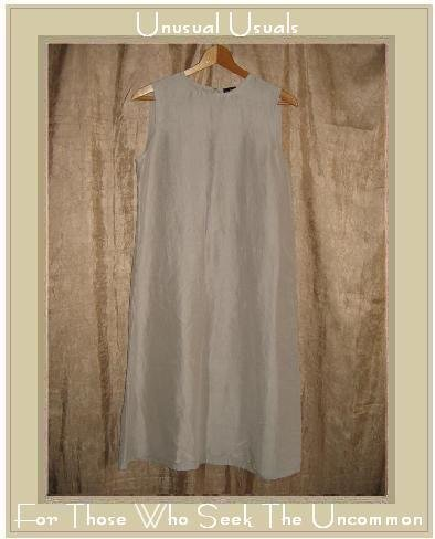 Eileen Fisher Long Taupe Silk Sheath Dress Small S