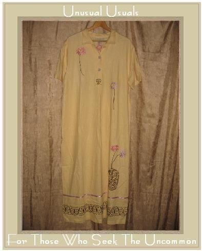 SWEET JESSIE Woman Long Embroidered Yellow Dress Size 14