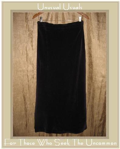 FLAX by Jeanne Engelhart Purple Cotton Velour Skirt Large L