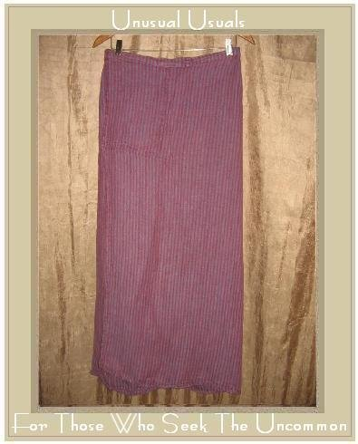 FLAX by Jeanne Engelhart Raspberry Striped Wrap Skirt Medium M