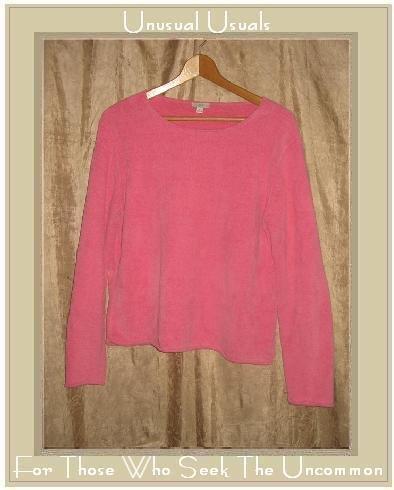 J. Jill Hot Pink Soft Chenille Knit Pullover Top Medium M