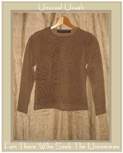 McALINDEN of Ireland Textured Brown Knit Pullover Shirt Top Small S