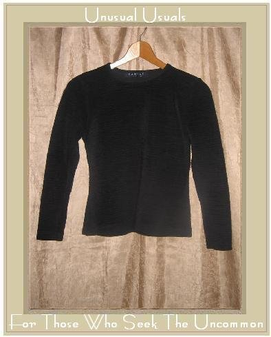 RAMSAY Dublin Textured Black Knit Pullover Shirt Top Small S