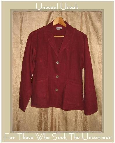 TSD Two Star Dog Shapely Russet LINEN Button Jacket Top X-Small XS