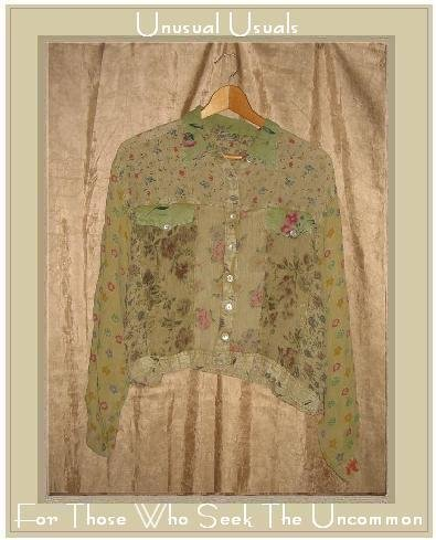 SACRED THREADS Light Floral Button Jacket Top Small Medium S M