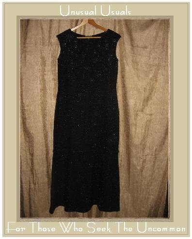 CLOTHESPIN Long Black Sparkle Knit Pullover Dress Medium M
