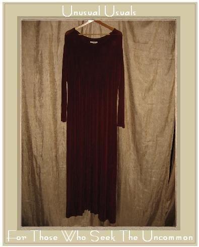 FLAX by Jeanne Engelhart Long Shapely Slinky Berry Knit Dress Large L