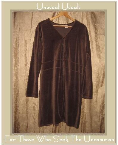 J. JILL Soft Purple Velour Button Dress Jacket Large L